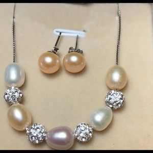 Jewelry - Fresh water pearl sterling silver set